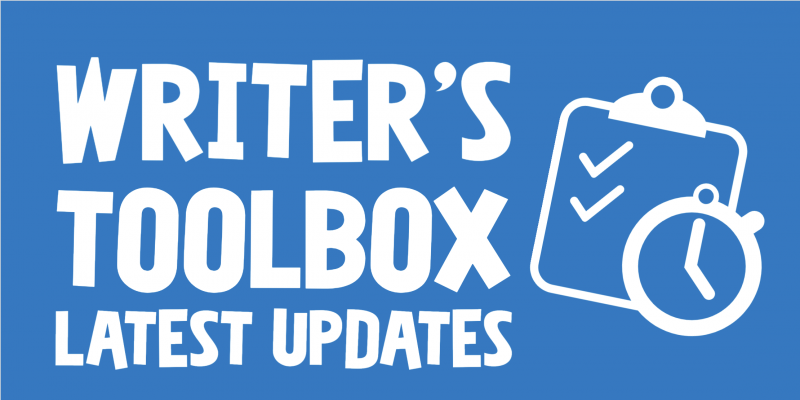 Writer's Toolbox Latest Updates